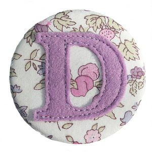 Liberty Initial Badge For Girls - pins & brooches
