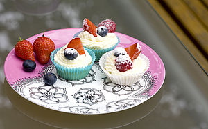 Bone China Cake Plate - kitchen