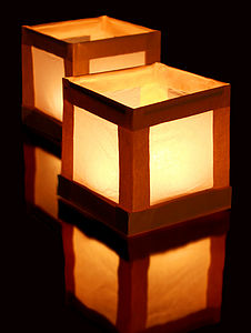 Ten Floating Water Lanterns With Tea Lights - tableware