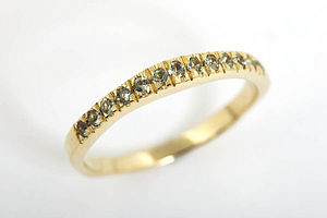 Wedding I With 12 Green Sapphires - women's jewellery