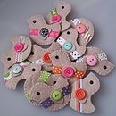 Flock Of Felt Bird Brooches
