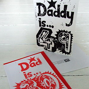 'Dad/Daddy is...' Special Age Birthday Card - shop by category
