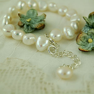 Girl's Extending Pearl Bracelet - christening jewellery