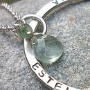 Personalised Halo Necklace with Gemstones