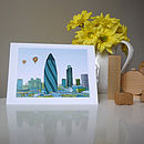 London Skyline And Balloons Greeting Card