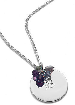 Gemstone Signature Pendant Necklace