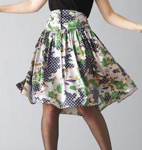 Vintage Floral Full Skirt - summer clothing