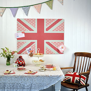 Large Steel Magnetic Notice Boards 'Cool Britannia' Union Jack Collection - storage & organisers