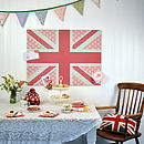 Cool Britannia Design / Large Magnetic Notice Board