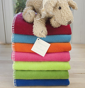 Fleece Baby Blanket Bright Collection - children's room