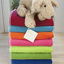 Fleece Baby Blanket Bright Collection
