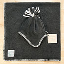 Charcoal Grey hat and blanket set