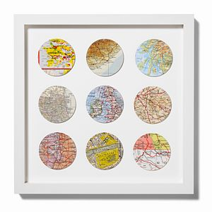 Bespoke Nine Circle Map Art - frequent traveller
