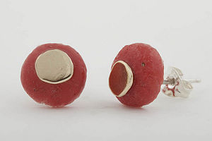 Africa Red Stud Earrings - earrings