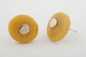 Africa Yellow Stud Earrings