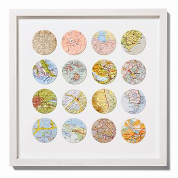 Sixteen Circles Map Location Wall Art Print