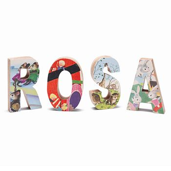 Children's Free-Standing Vintage Book Letters