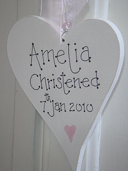 Christening heart close