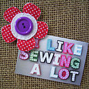I Like Sewing A Lot!