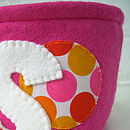 Handstitched Colourful Fabric Circle