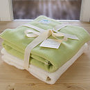 Fleece Newborn Blanket Gift Set
