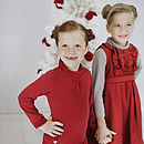 French Design Girls Dress with Ruffles