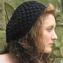 Handmade Textured Beret in Merino Wool