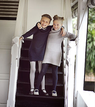 French Design Girls Knit Dress