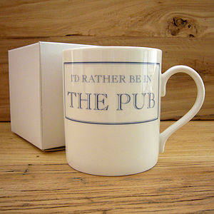 I'd Rather Be… China Mug - mugs