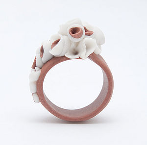 Martinique Flower Porcelain Ring - rings