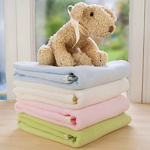 Fleece Newborn Blanket - baby's room