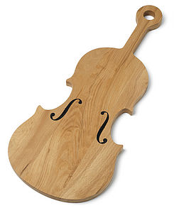 Violin Cheese Board - 5th anniversary: wood