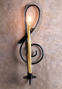 Treble Clef Candle Holder - candles & candlesticks