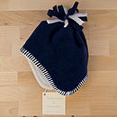 Navy Fleece Baby Hat
