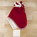 Red Fleece Baby Hat
