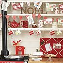 Christmas kitchen from the contemporary home