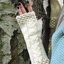 Organic Cotton Fingerless Mittens