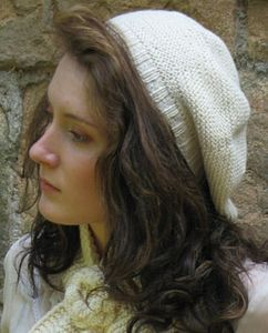 Garter Stitch Beret in Organic Cotton - women's accessories