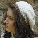 Garter Stitch Beret in Organic Cotton