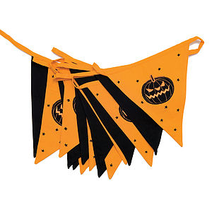 Halloween Cotton Bunting 5m - children's parties