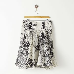 Printed Prom Skirt - summer clothing