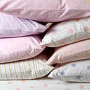 Gingham Striped Or Spotty Pillow Case
