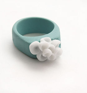 Los Cabos Flower Porcelain Ring - rings