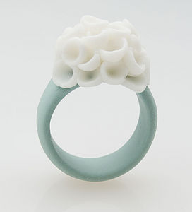 El Medano Flower Porcelain Ring - rings