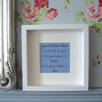 'Thought for the Day' Framed Print