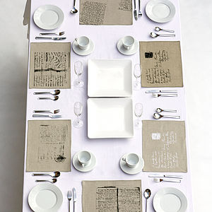 Set Of Four Mixed Linen Placemats - shop by room