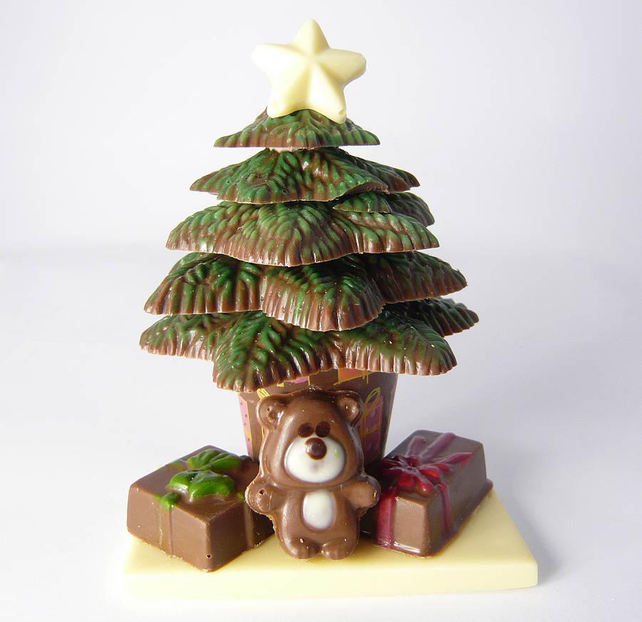Chocolate Christmas Tree Decorations Asda : Chocolate diy christmas tree kit by cocoapod