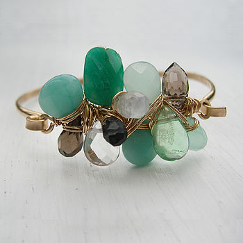 Modern Green statement bracelet