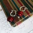 Murano Red balls with hoops