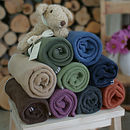 Fleece Baby Blanket Naturals Collection